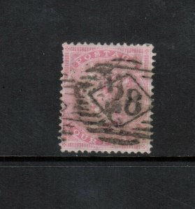 Great Britain #26 Very Fine Used Rose White Rare Watermark Large Garter
