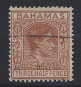Bahamas - Scott 102 - KGVI -1938-46 - VFU -1.1/2p- Red Brown