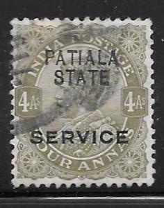 India Patiala O33: 4a George V, used, F