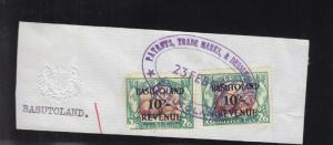 Basutoland: Revenue on a Piece, Sc #74AB (24858)