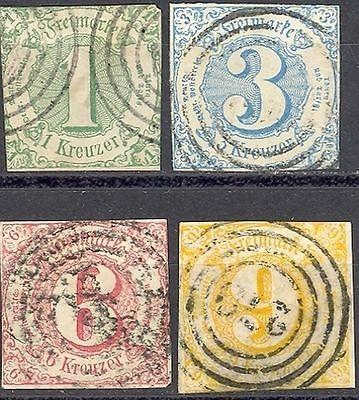 Thurn& Taxis #47-50 Used F-VF