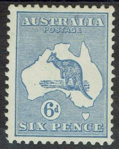 AUSTRALIA 1915 KANGAROO 6D 3RD WMK