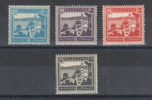 Palestine Sc 80, 81, 83, 84 MLH. 1927-1942 Definitives, 4 different, F-VF