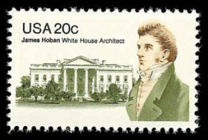 PCBstamps  US #1936 20c James Hoban, 1981, MNH, (9)