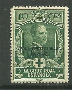 1926 Spanish Morocco 10c Prince of Asturias MH with gum faults
