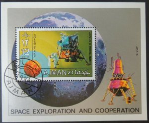 AJMAN 1970 space exploration Apollo 11 Luna 16 moon landing