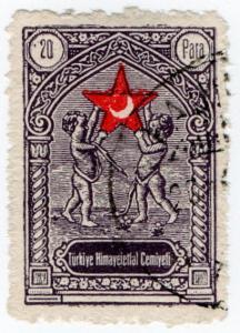 (I.B) Turkey Cinderella : Red Crescent Fund 20pa (Smirna)