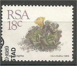 SOUTH AFRICA, 1988, used 18c, Succulents, Scott 741