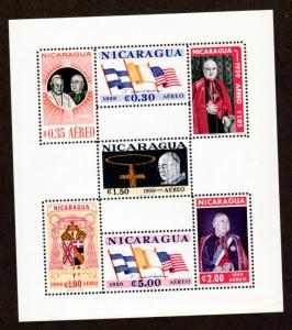 Nicaragua 823a,C436a Mint NH S/S Perf & Imperf!