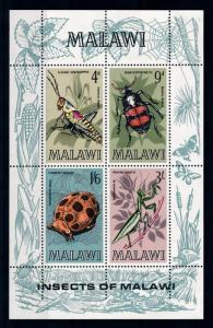 [70667] Malawi 1970 Insects Grasshopper Ladybird Souvenir Sheet MNH