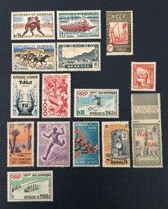 Tunisia, Togo, Somali Coast. Senegal. Africa, French.