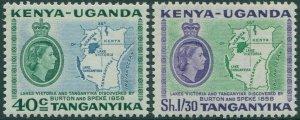 Kenya Uganda Tanganyika 1958 SG181-182 Lakes Discovery set MNH