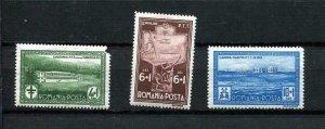 Romania 1932 Mi 446-8 MH 1 stamp damaged corner CV 40 euro MH 9643