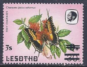 Lesotho Scott # 617A & 617B MNH surcharge error
