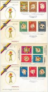 56578 - COLOMBIA - set of 4 FDC COVERS: TENNIS football BOXING Basketball 1961