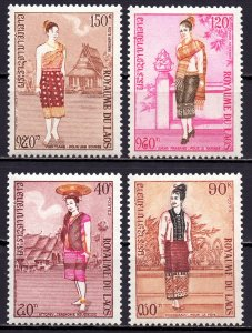 Laos. 1973. 354-57. folk costumes. MNH.