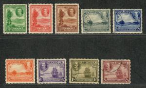 Antigua Sc#67-75 M+U/H/VF, Partial Set, Cv. $193