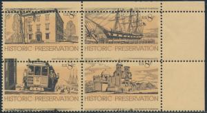 #1440-43 HISTORIC PRESERVATION BLK/4 MAJOR COLOR SHIFT ERROR BS7752
