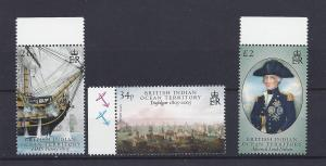 British Indian Ocean Territory,313-15,Battle Trafalger,*MNH*