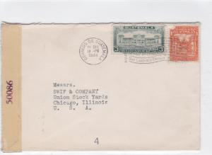 guatemala 1944 to u.s.a. censor  stamps cover ref r16118