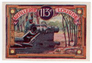 (I.B) Cinderella : Delandre French Regiments - 113th Artillery (Lourdes)