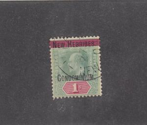 NEW HEBRIDES # 6 DATED 09 KEV11 CONDOMINION O/PRINT CAT VALUE $300+