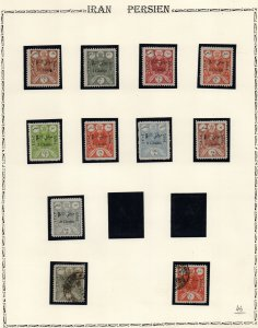 IRAN/PERSIA: Used & Unused Overprints - Ex-Old Time Collection - Page (41526)