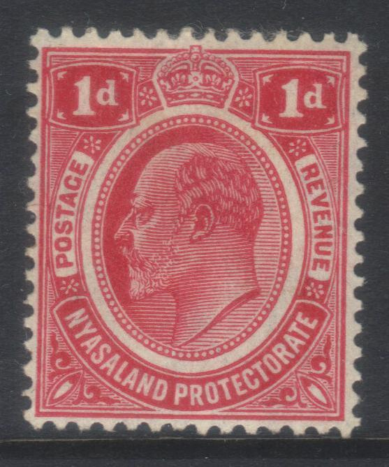 NYASALAND 1908-1911 CROWN CA SG74 MH CAT £9