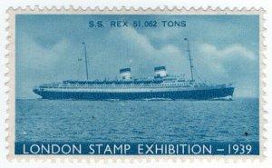 (I.B) Cinderella : Harrison & Sons - Stamp Exhibition 1939 (SS Rex)