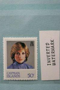 Cayman Islands 50c sc#489 inverted watermark Mint MNH Princess Diana