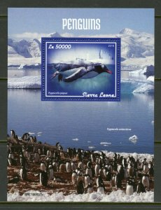 SIERRA LEONE 2019 PENGUINS SOUVENIR SHEET MINT NEVER HINGED