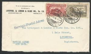 MEXICO 1935 airmail cover Mexico City to UK................................10613