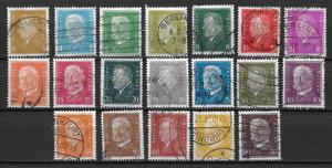 Germany 366-84 Presidents set Used (z4)
