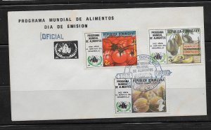 DOMINICAN REPUBLIC STAMPS,COVER ALIMENTOS 1974 #F28