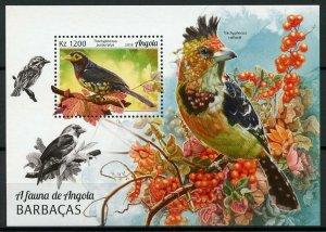 Angola Birds on Stamps 2018 MNH Barbets Barbet Bird Fauna 1v M/S