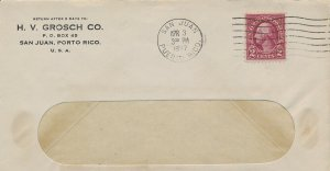 H.V. Grosch Co.  corner San Juan Puerto Rico 1937 on cover