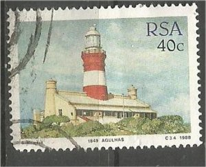 SOUTH AFRICA 1988, used 40c, Lighthouses, Scott 716