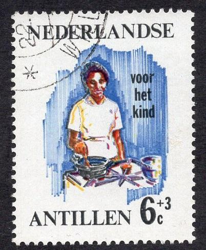Netherlands Antilles  #B73 1966 used  child welfare  6 ct