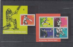 MONTSERRAT 2 SHEETS SPORTING EVENTS SPORTS CRICKET FOOTBALL