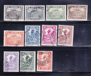 Peru 305-309, 311-316 U Various