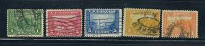 397-400A  Used,  Panama-Pacific, scv: $55.50  FREE Insured Shipping