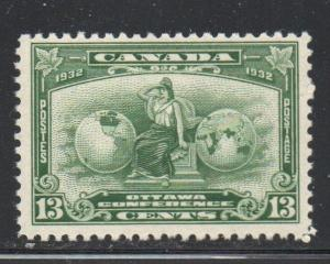 Canada Sc 194 1932 13 c Ottawa Conference stamp mint NH