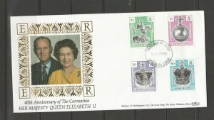 Tristan Da Cunha 1993 FDC, 40th Anniv Coronation, Benham cover