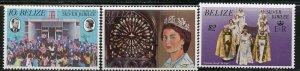 Belize MNH 383-5 Silver Jubilee QE II