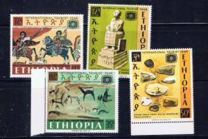 Ethiopia 488-91 NH 1967 Tourist Year set