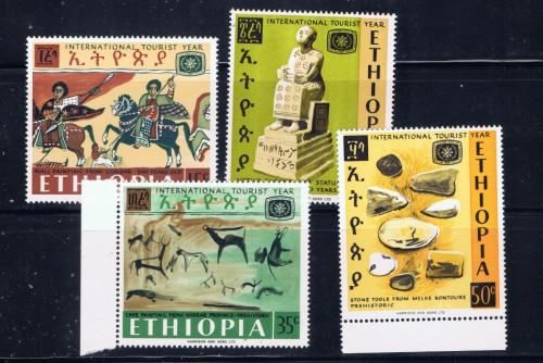 Ethiopia 488-91 NH 1967 Tourist Year set