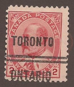 CANADA PRECANCEL TORONTO 5-90