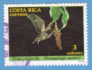 Costa Rica 378 Used - Glossophaga Soricina
