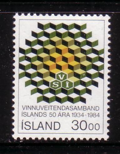 Iceland Sc599 1984 Employers Confederation stamp mint