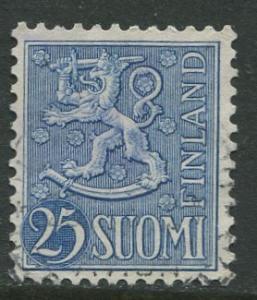 Finland - Scott 321 - Arms of Finland -1954- FU - Single 25m Stamp